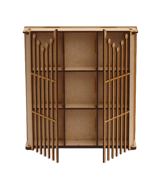 Gated  Shadow Box with 9 Compartments