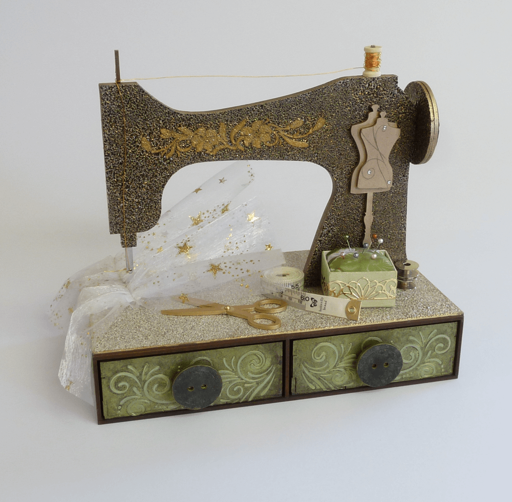 Sewing machine topper with two drawer unit for Best home decor sewing machine